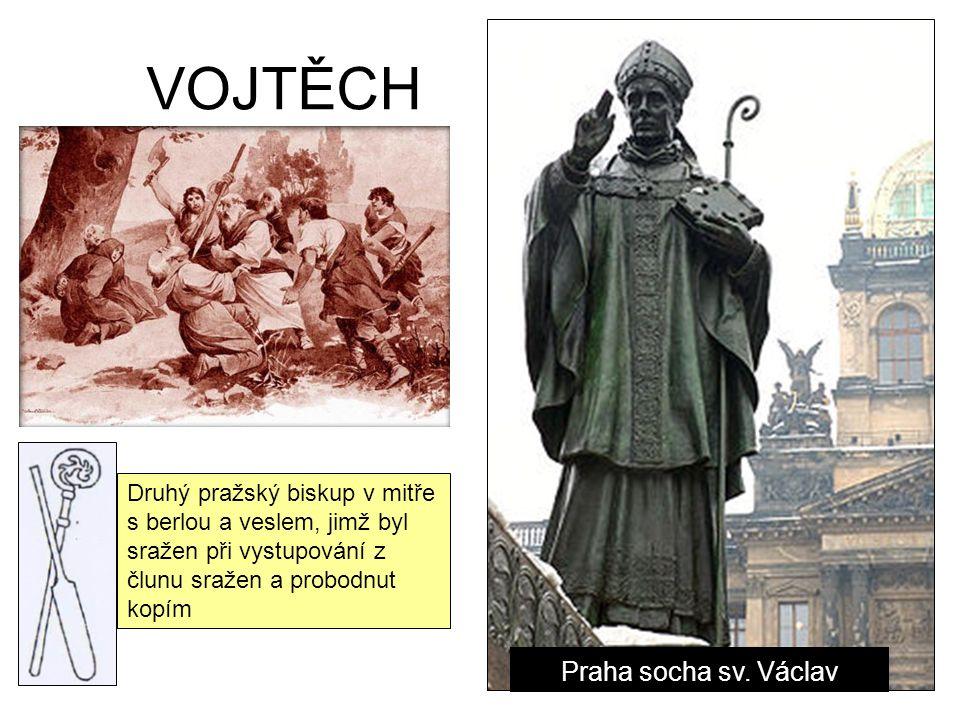 VOJTĚCH Praha socha sv.