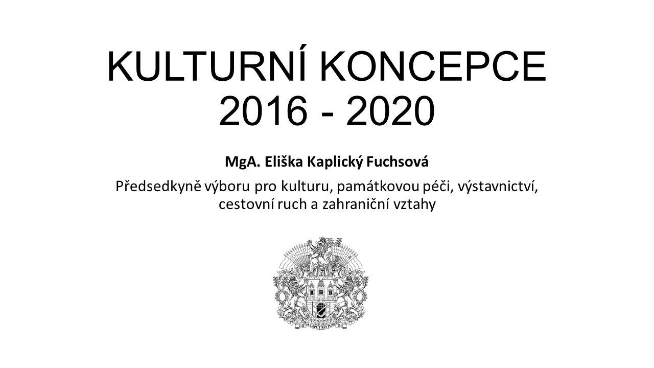 KULTURNÍ KONCEPCE 2016 - 2020 MgA.