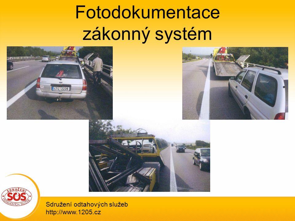Fotodokumentace zákonný systém Sdružení odtahových služeb http://www.1205.cz