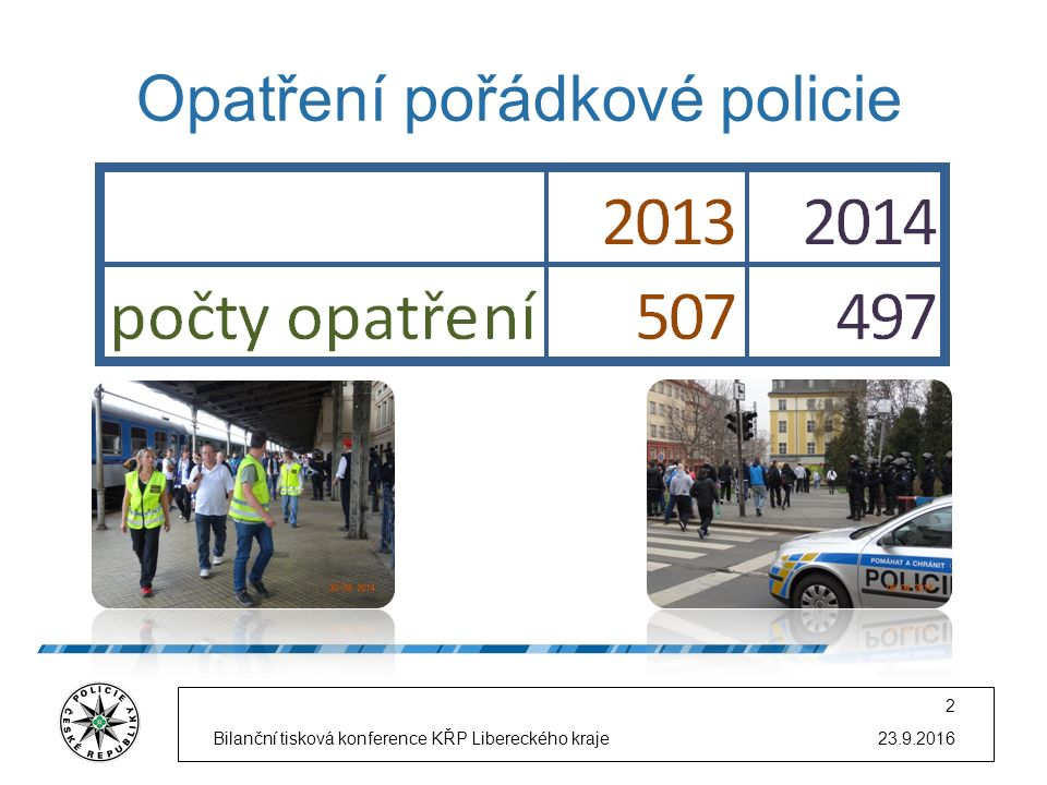 Opatření pořádkové policie 23.9.2016Bilanční tisková konference KŘP Libereckého kraje 2