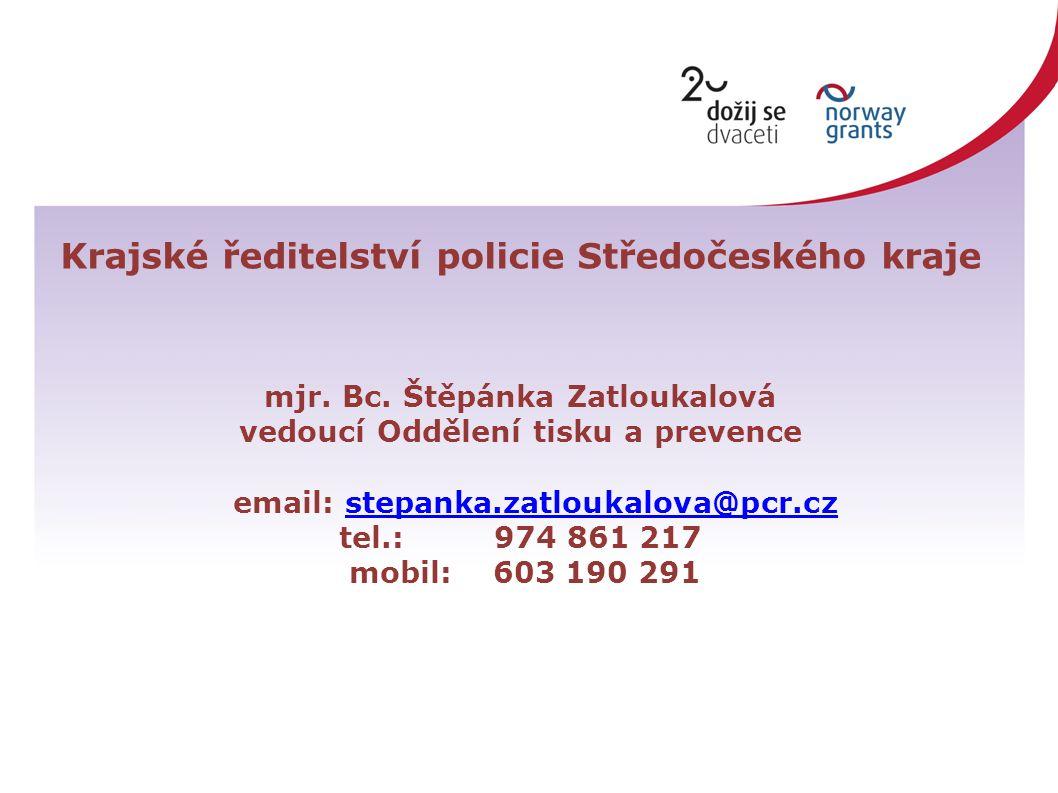Krajské ředitelství policie Středočeského kraje mjr.