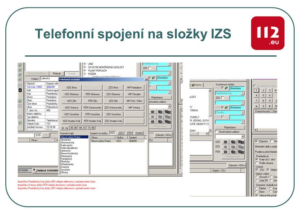 Telefonní spojení na složky IZS