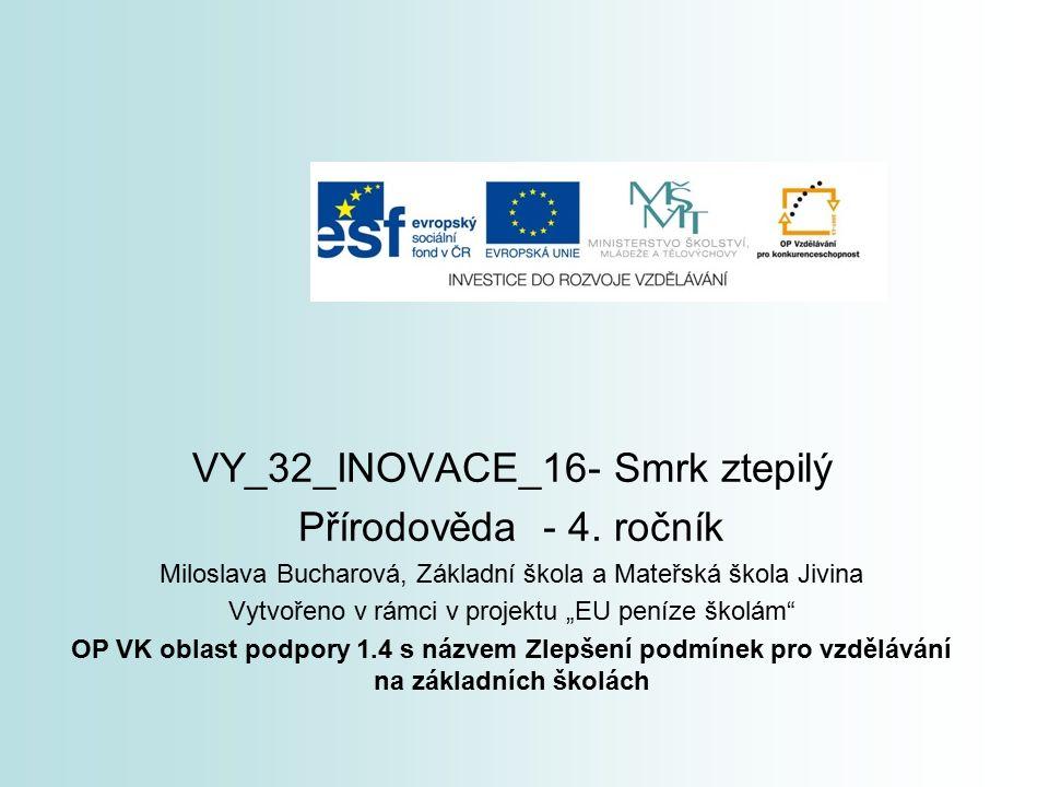 VY_32_INOVACE_16- Smrk ztepilý Přírodověda - 4.