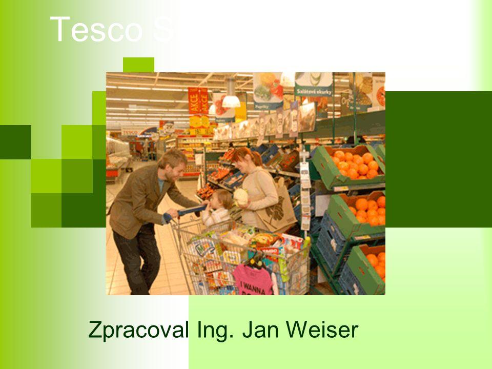 Vlastní značka Tesco Obchodní řetězec Tesco vlastní svoji značku výrobků.
