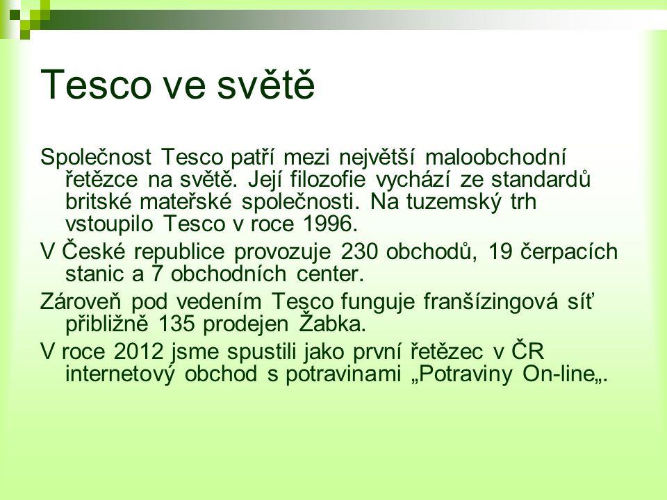 Tesco v ČR V současnosti je v České republice více než 230 prodejen Tesco – hypermarketů, supermarketů, obchodních domů a nově také nových prodejen Tesco Expres.