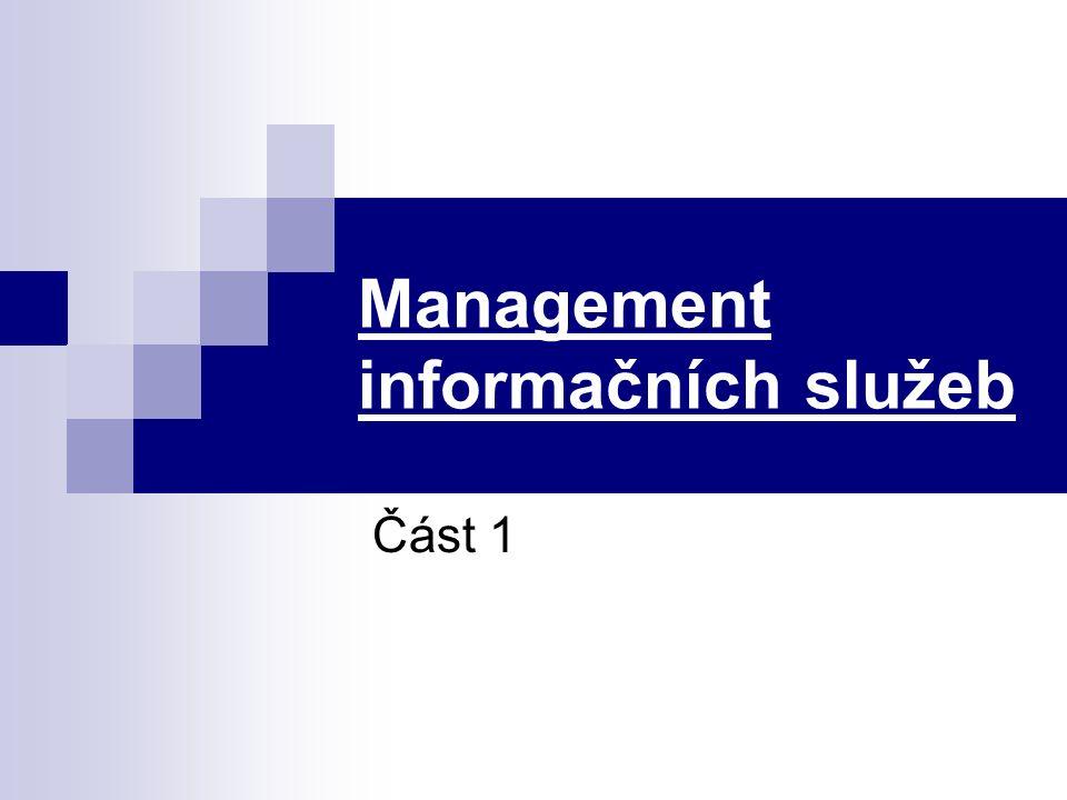 Management informačních služeb Část 1