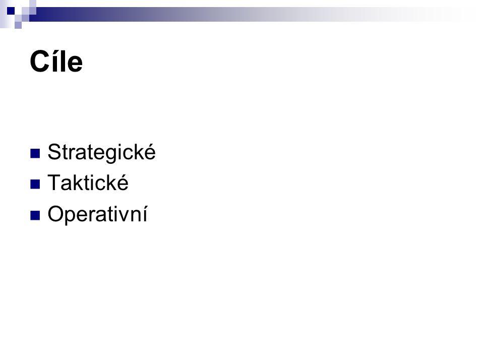 Cíle Strategické Taktické Operativní