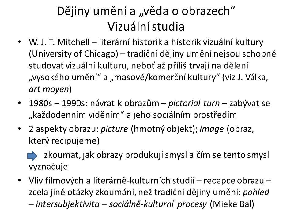 """Dějiny umění a """"věda o obrazech Vizuální studia W."""
