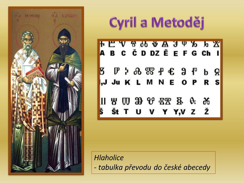 Hlaholice - tabulka převodu do české abecedy