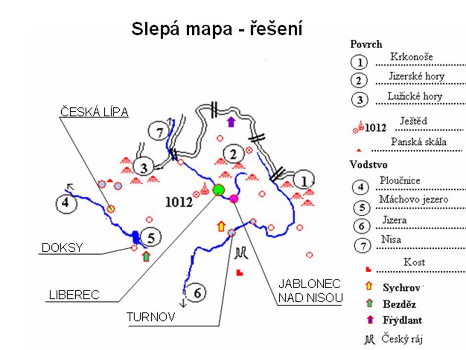 Zjistěte informace o těchto místech a pojmech: Jizerská 50 Ještěd Pánská skála Máchovo jezero Harrachov Libverda ZOO Liberec CHKO Český ráj Jablonex Euroregion NISA
