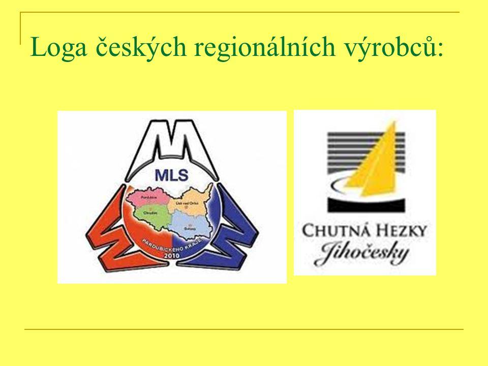 Loga českých regionálních výrobců: