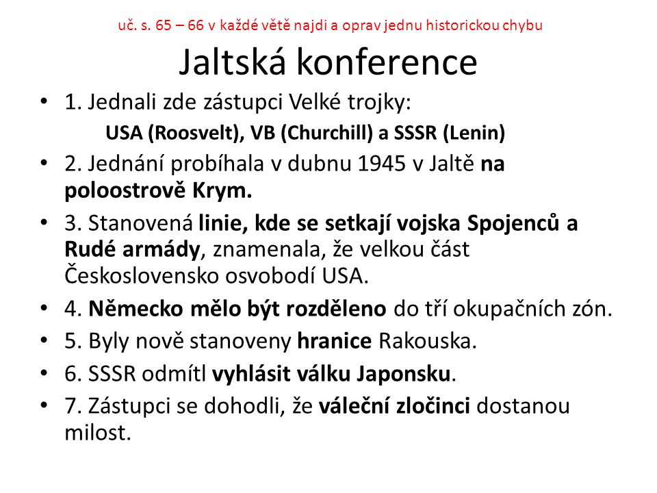Jaltská konference 1.
