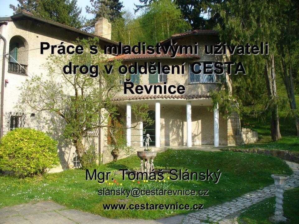 Práce s mladistvými uživateli drog v oddělení CESTA Řevnice Mgr.
