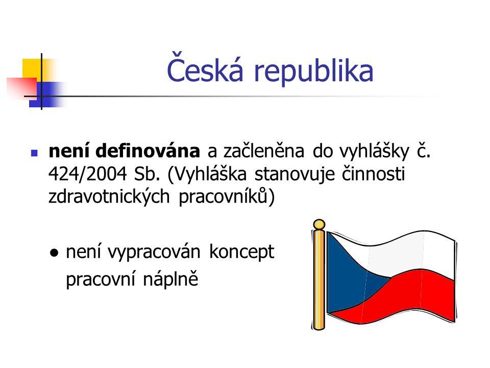 Česká republika není definována a začleněna do vyhlášky č.