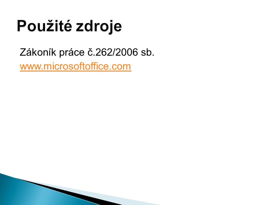 Zákoník práce č.262/2006 sb. www.microsoftoffice.com