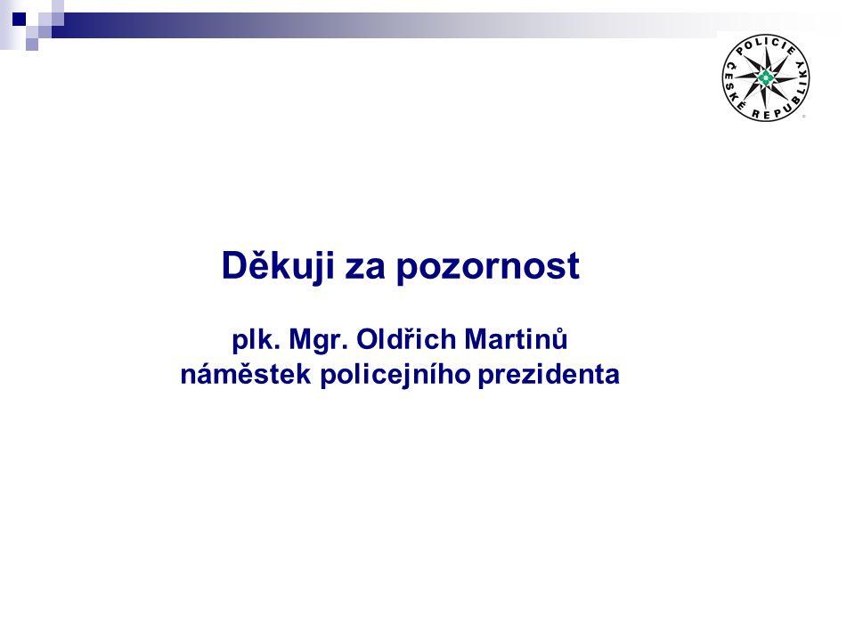 Děkuji za pozornost plk. Mgr. Oldřich Martinů náměstek policejního prezidenta