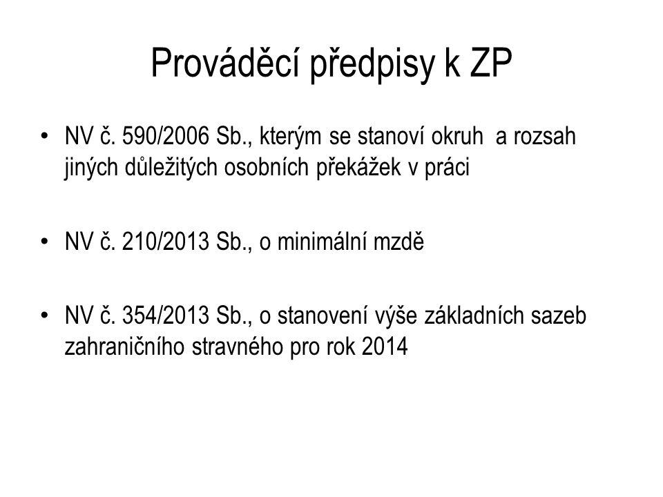 Prováděcí předpisy NV č.201/2010 Sb.