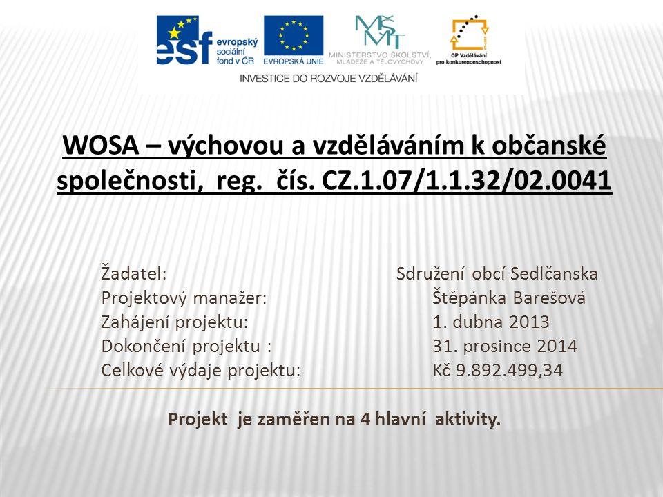 WOSA – výchovou a vzděláváním k občanské společnosti, reg.