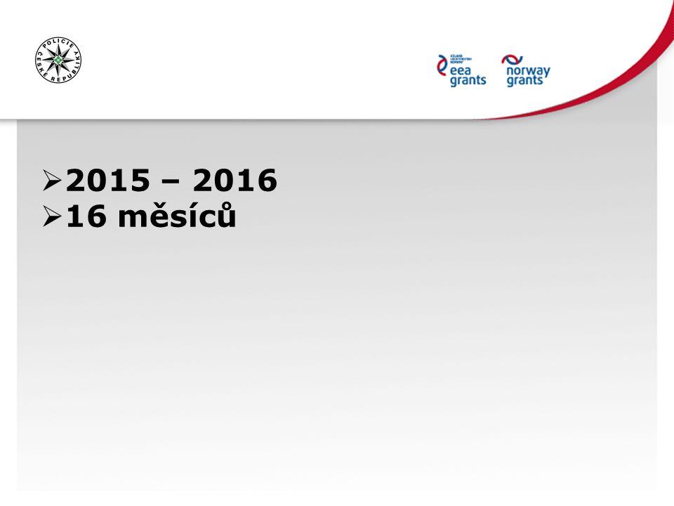  2015 – 2016  16 měsíců