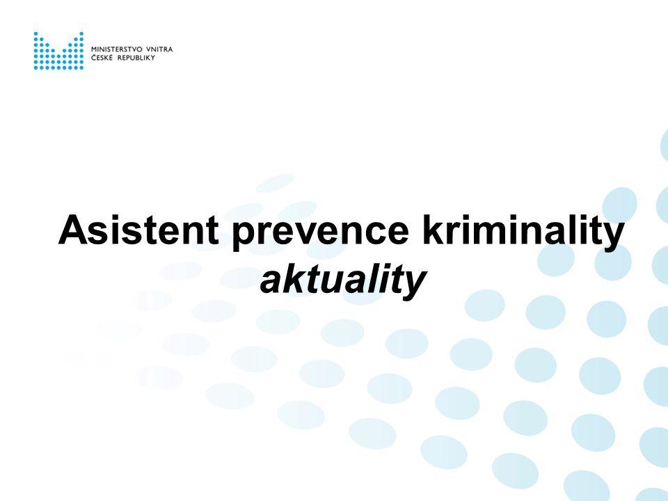 Asistent prevence kriminality aktuality