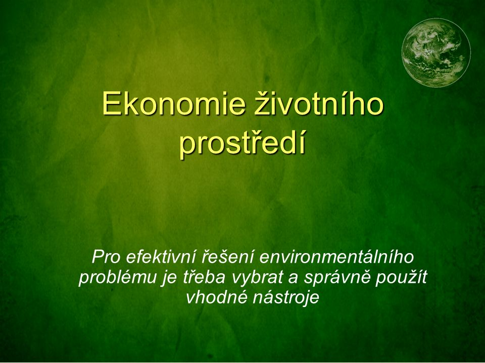 Systém environmentálního managementu Environmentální management podniků, je dobrovolný systém neustálého zlepšování environmentálního profilu daného podniku.