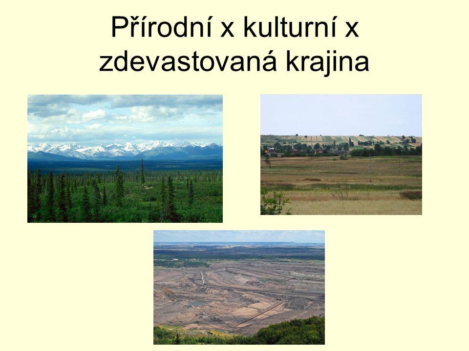 Přírodní x kulturní x zdevastovaná krajina