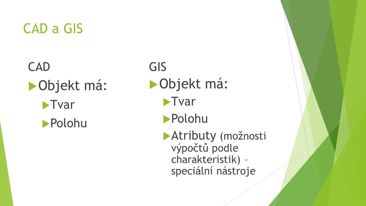 GIS – Analýzy  Dostupnosti z místa. Co se nachází na vybraném bodě/ploše.