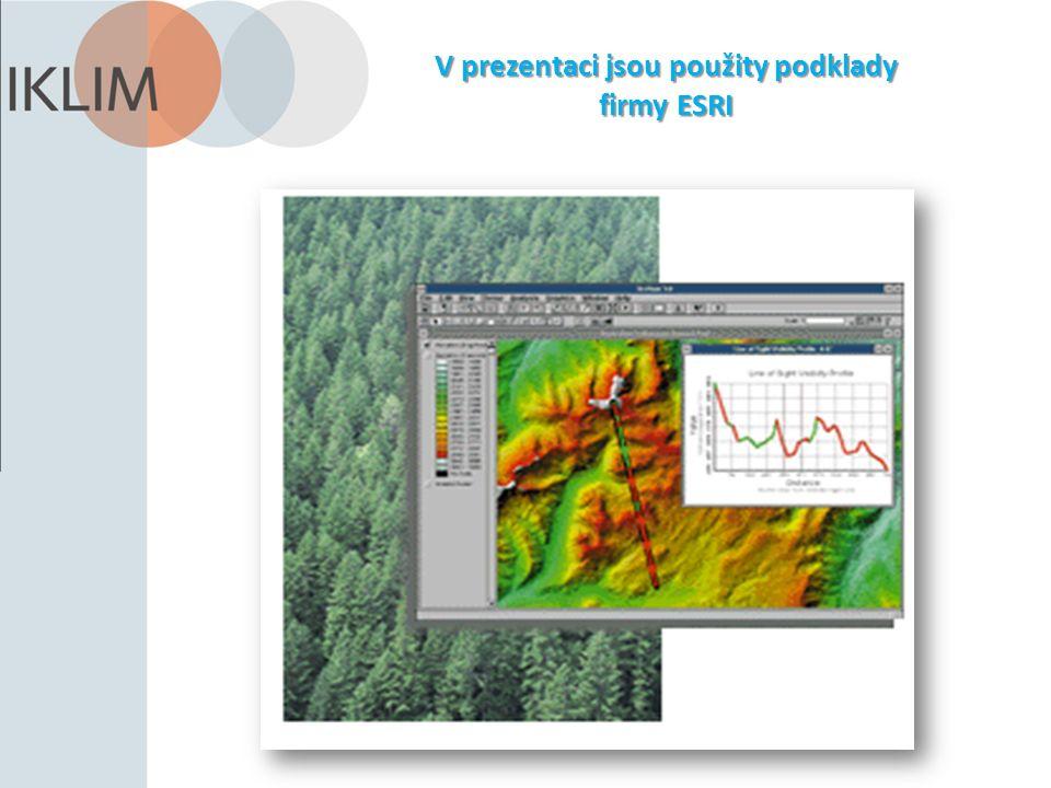 V prezentaci jsou použity podklady firmy ESRI