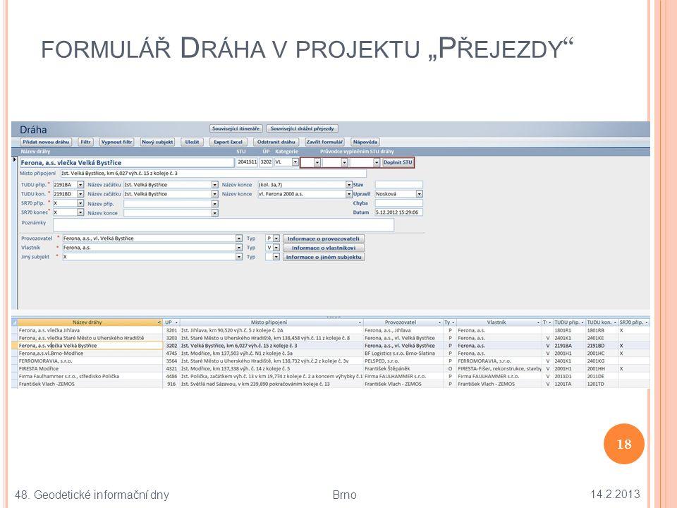 KONTROLNÍ MAPA PŘEJEZDU P20015 V M APY.CZ 14.2.2013 19 48.