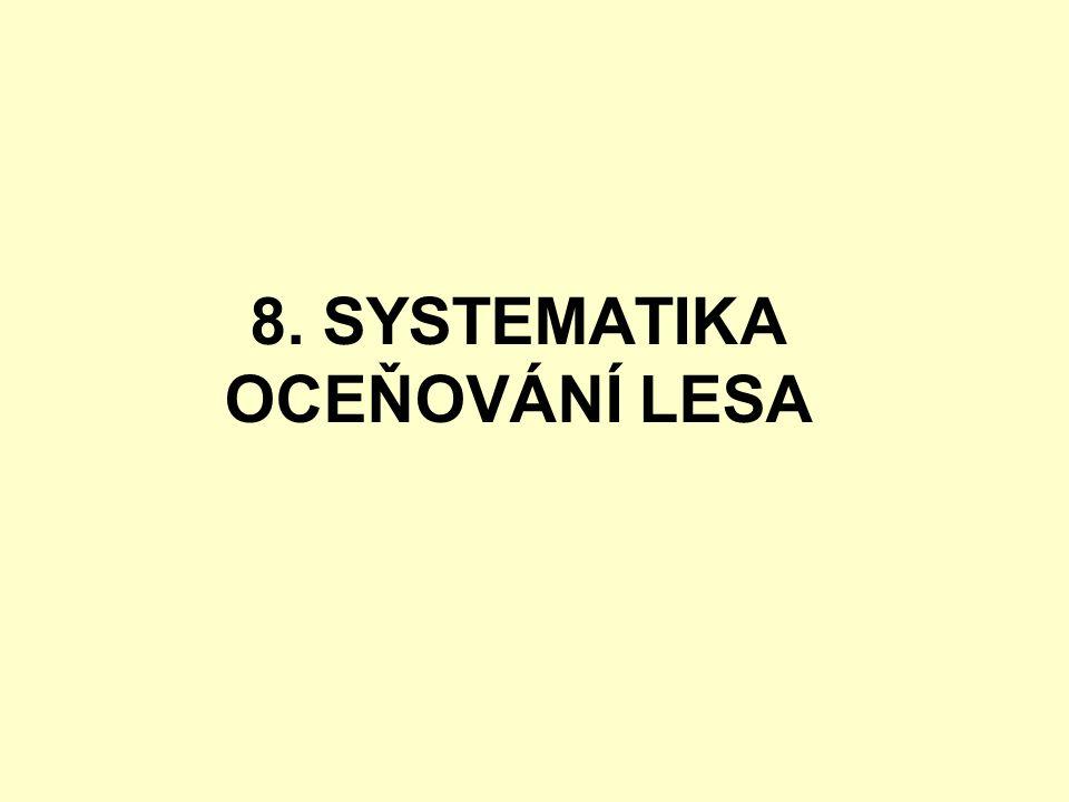 8. SYSTEMATIKA OCEŇOVÁNÍ LESA
