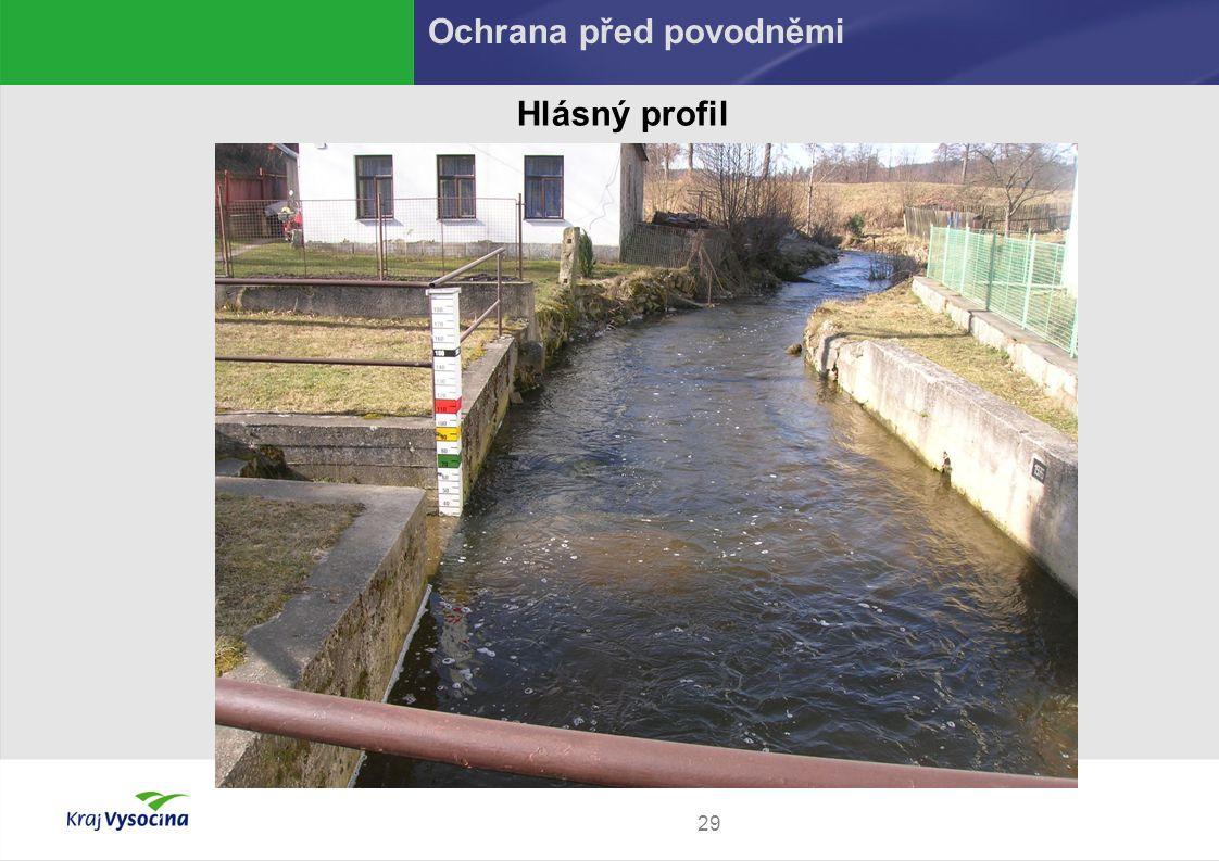 29 Hlásný profil Ochrana před povodněmi