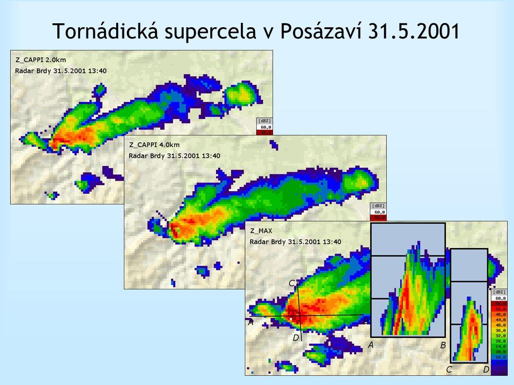 Tornádická supercela v Posázaví 31.5.2001