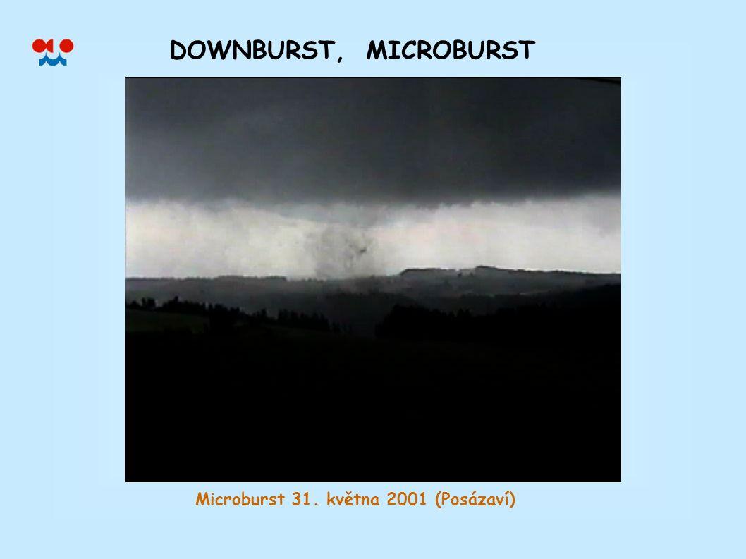 Microburst 31. května 2001 (Posázaví)