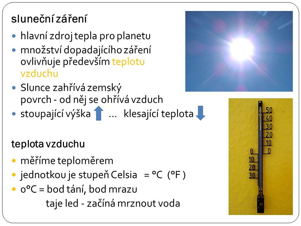 srovnání Celsiovy a Fahrenheitovy stupnice O°C = 32°F