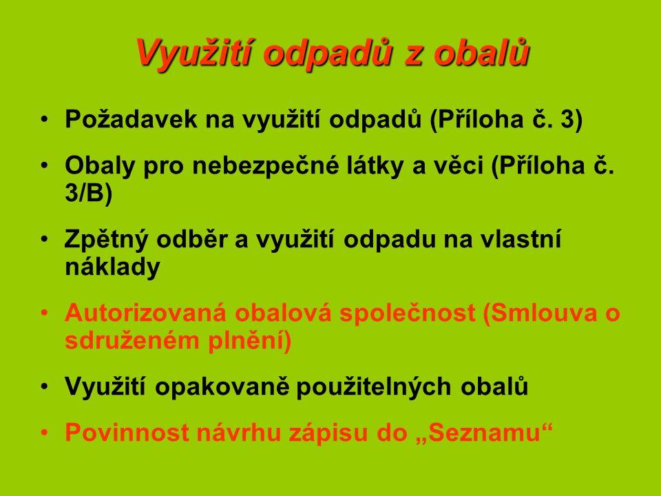 Další specifické požadavky na obaly Požadavky na obaly pro potraviny – vyhláška č.