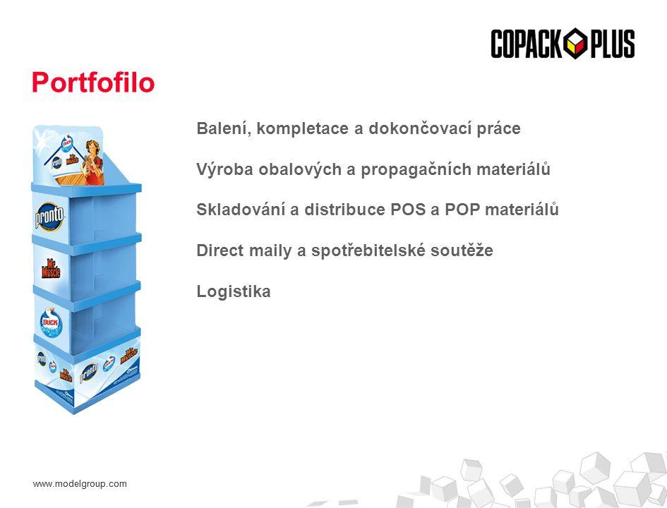www.modelgroup.com Balení, kompletace a dokončovací práce Výroba obalových a propagačních materiálů Skladování a distribuce POS a POP materiálů Direct