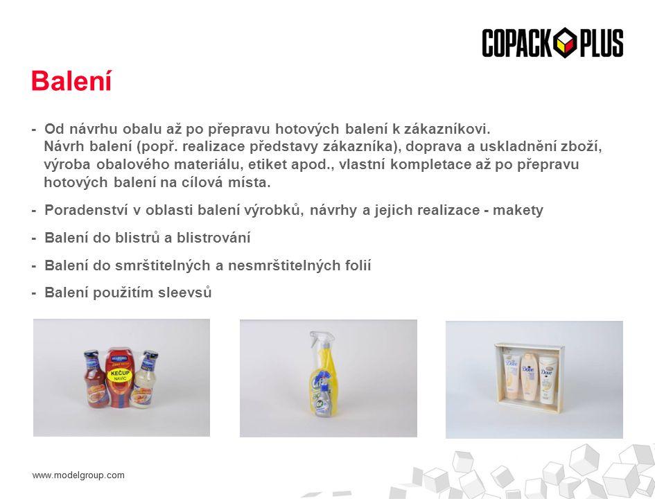 www.modelgroup.com - Od návrhu obalu až po přepravu hotových balení k zákazníkovi. Návrh balení (popř. realizace představy zákazníka), doprava a uskla