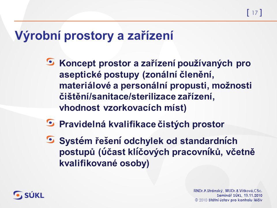 [ 17 ] RNDr. P.Stránský, MUDr. E. Vítková,CSc.