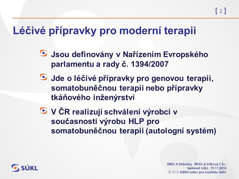 [ 2 ] RNDr. P.Stránský, MUDr. E. Vítková,CSc.