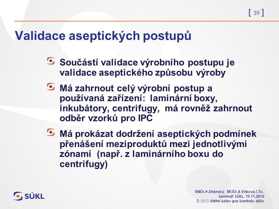 [ 39 ] RNDr. P.Stránský, MUDr. E. Vítková,CSc.