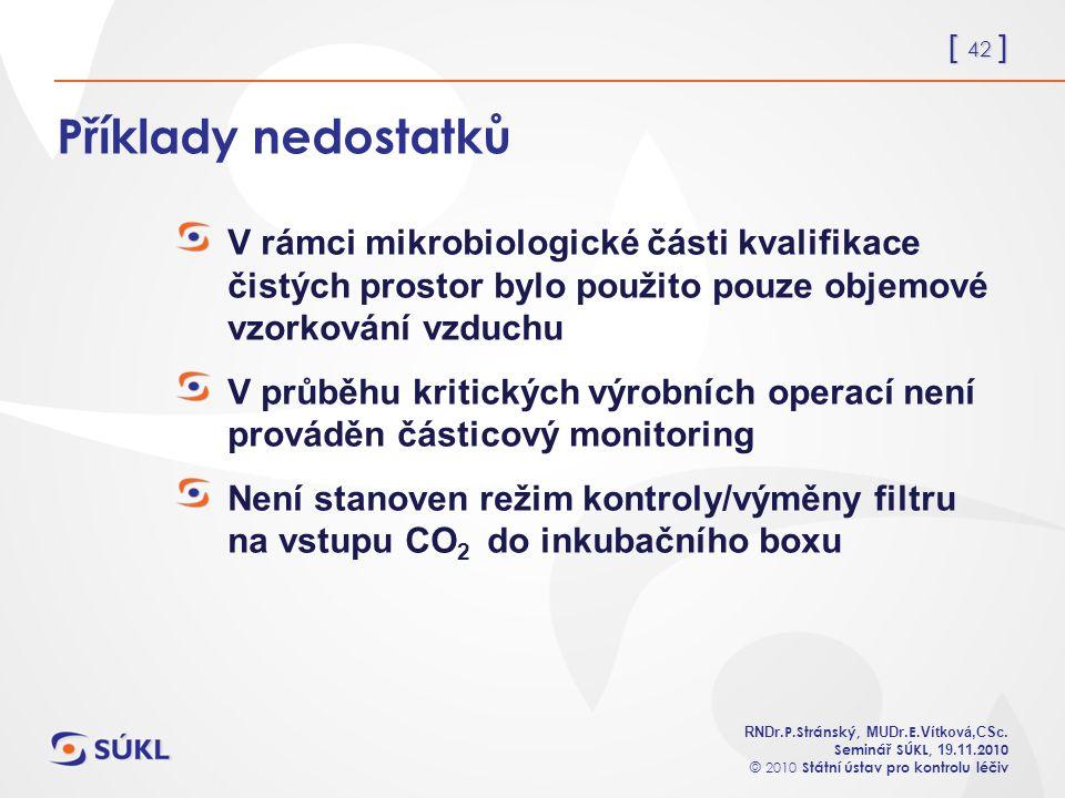 [ 42 ] RNDr. P.Stránský, MUDr. E. Vítková,CSc.