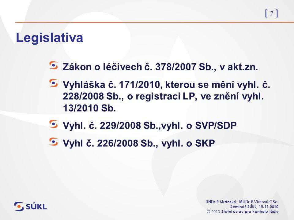 [ 7 ] RNDr. P.Stránský, MUDr. E. Vítková,CSc.