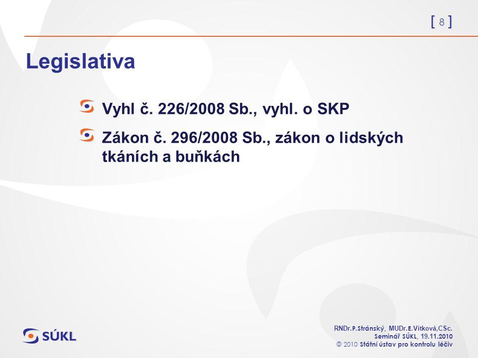 [ 8 ] RNDr. P.Stránský, MUDr. E. Vítková,CSc.