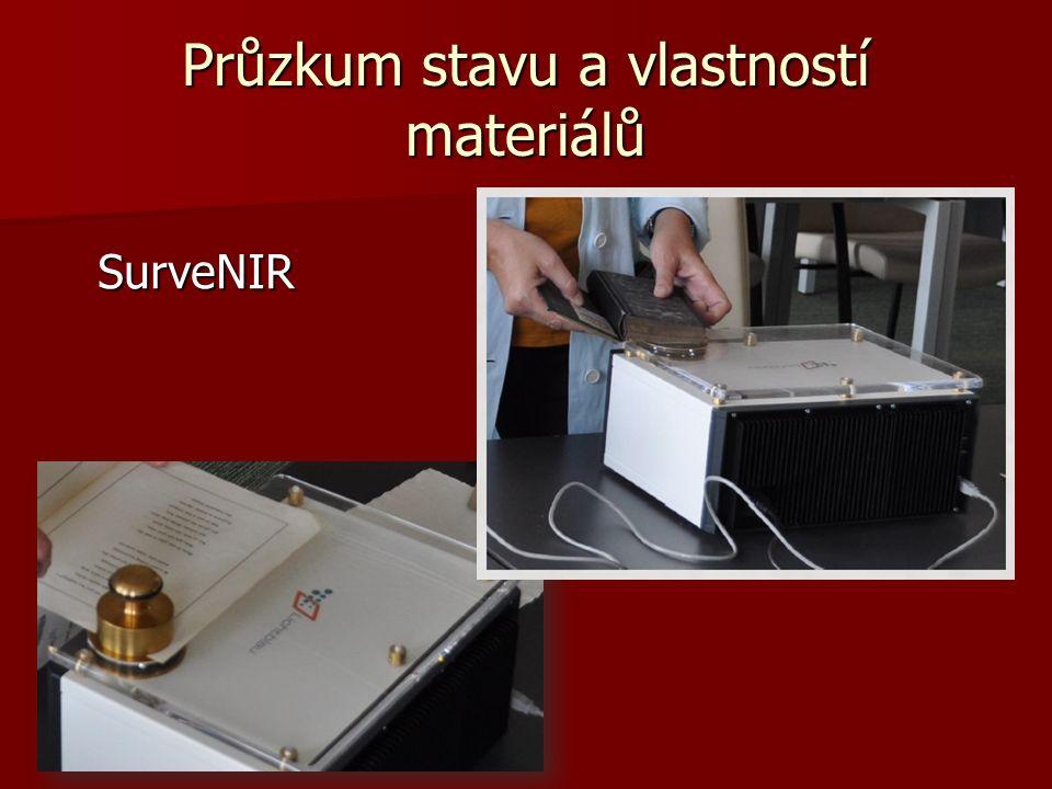 Průzkum stavu a vlastností materiálů SurveNIR