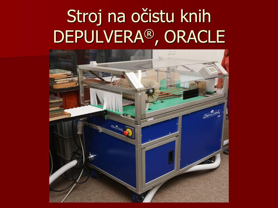 Stroj na očistu knih DEPULVERA ®, ORACLE