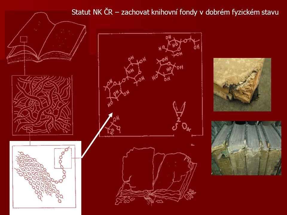 Statut NK ČR – zachovat knihovní fondy v dobrém fyzickém stavu