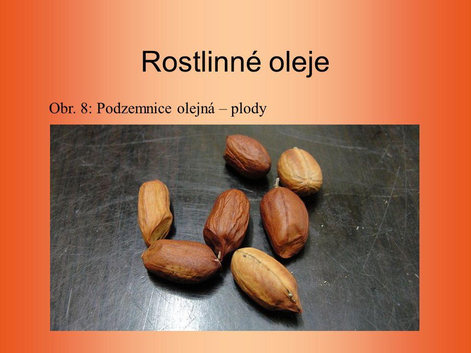Rostlinné oleje Obr. 8: Podzemnice olejná – plody