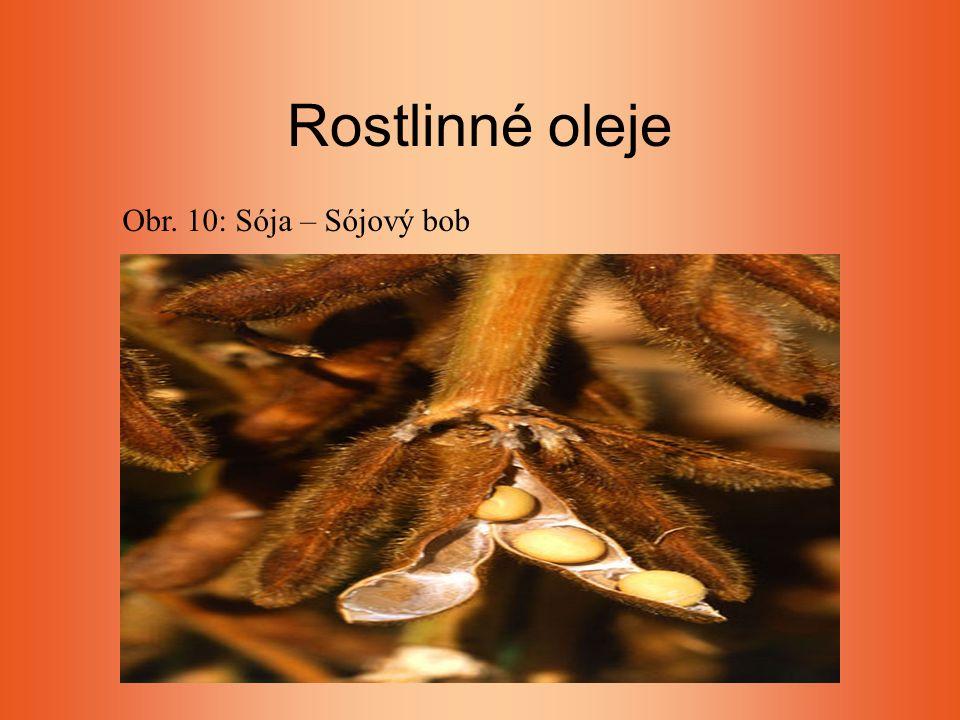 Rostlinné oleje Obr. 10: Sója – Sójový bob