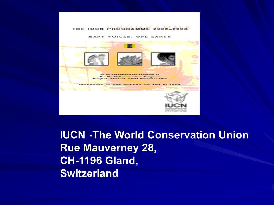 Některé organizace zabývající se ekologickou problematikou ve světě na vládní i nevládní úrovni IUCN založeno 1948 dnes se nazývá The World Conservation Union, ale zůstala zkratka IUCN