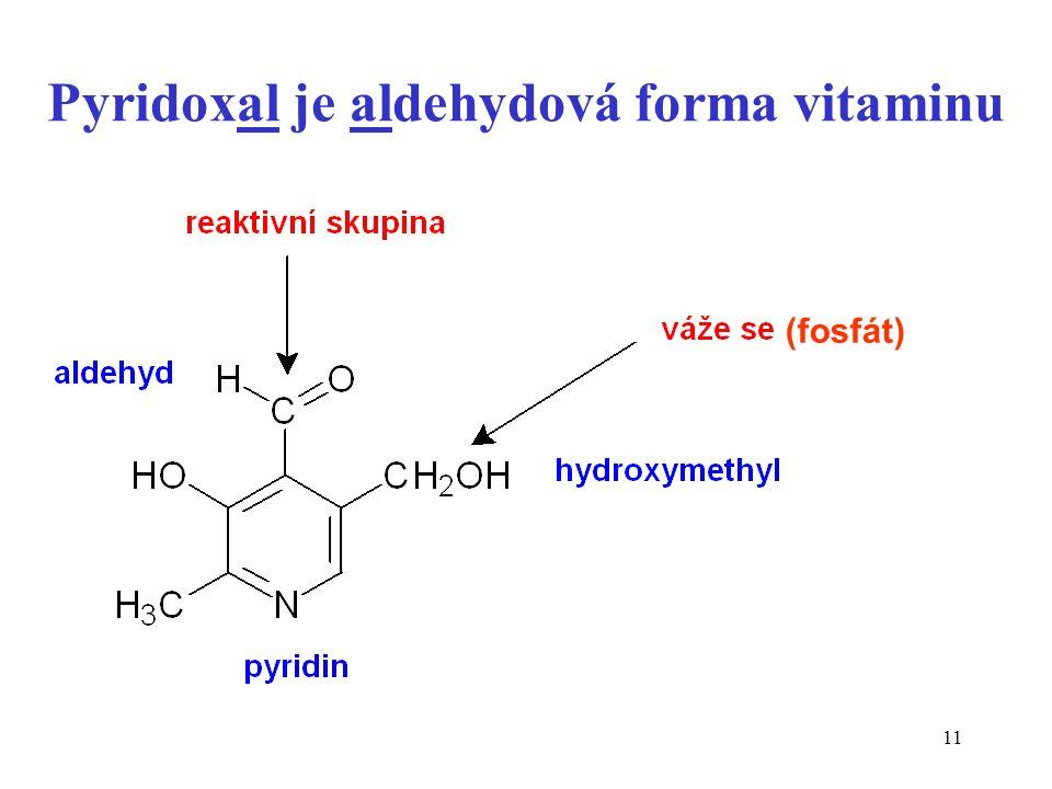 11 Pyridoxal je aldehydová forma vitaminu (fosfát)